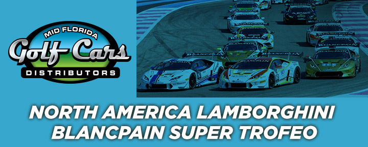 Mid Florida Golf Cars is a sponsor of The Lamborghini Blancpain Super Trofeo North America