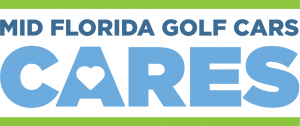 The Official Mid Florida Golf Cars Cares logo