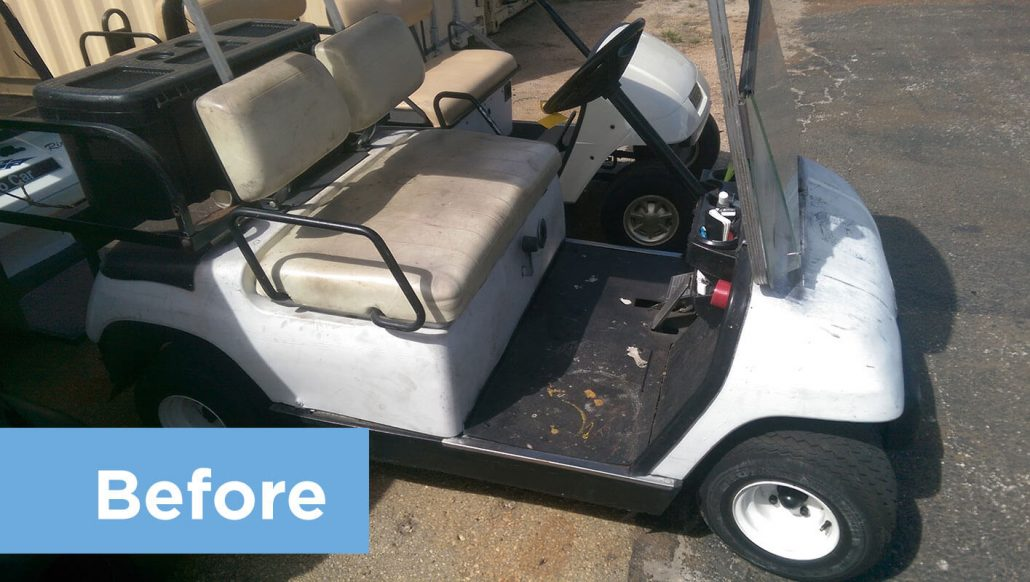 Restoring Old Golf Cart Returns it to Like-New Condition - Mid ...